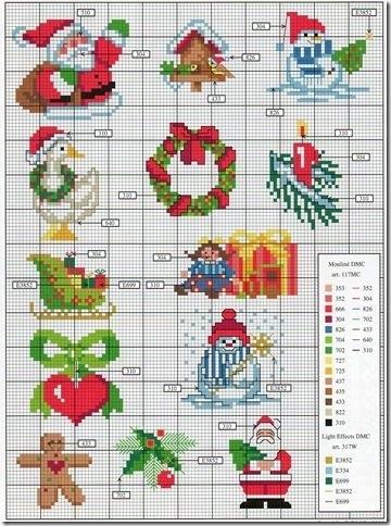 Вышивка крестом схемы рождество и новый год011