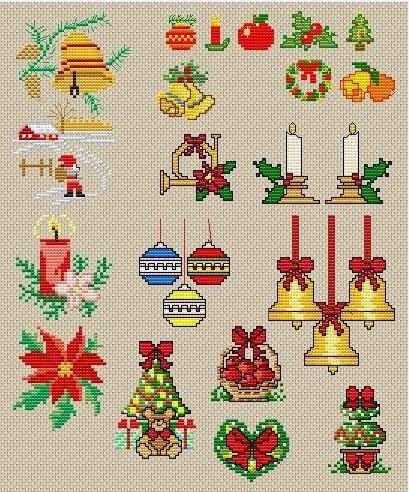 Вышивка крестом схемы рождество и новый год012