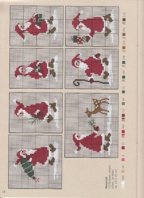 Вышивка крестом схемы рождество и новый год015