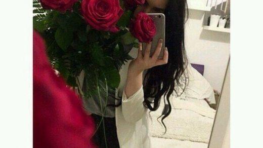 Девушки с розами в руках фото на аву020