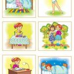 Детский распорядок дня в картинках