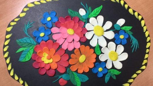 Как нарисовать цветы на подносе003