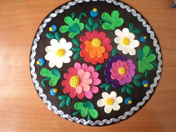 Как нарисовать цветы на подносе013