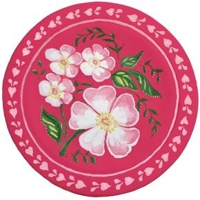 Как нарисовать цветы на подносе015