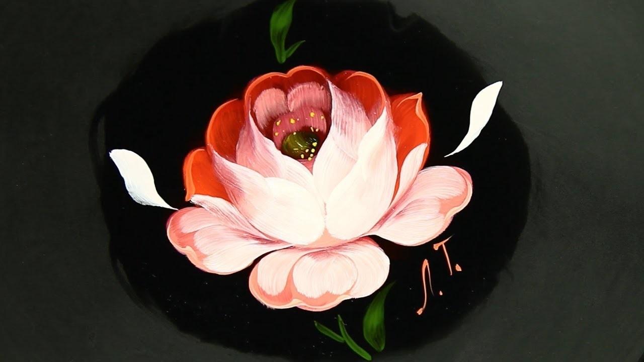 Как нарисовать цветы на подносе016
