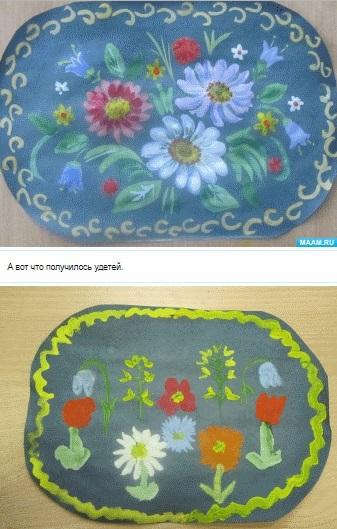 Как нарисовать цветы на подносе017