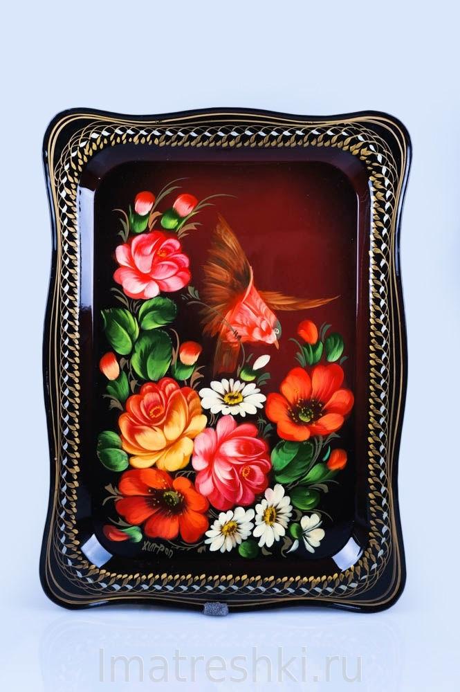 Как нарисовать цветы на подносе018