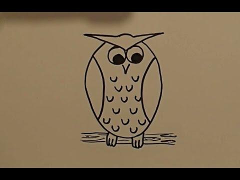 Картинки и рисунки карандашом сова005