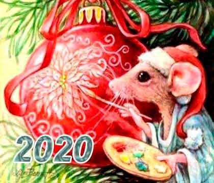 Картинки крыски на Новый год 2020013
