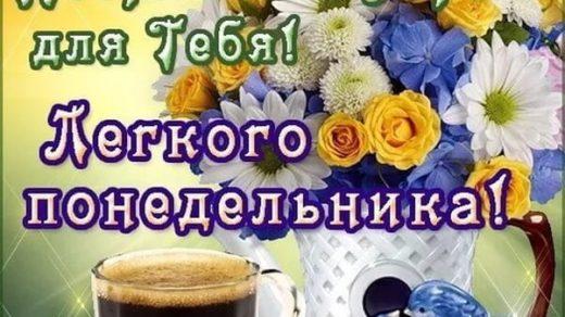 Картинки с добрым утром понедельник004