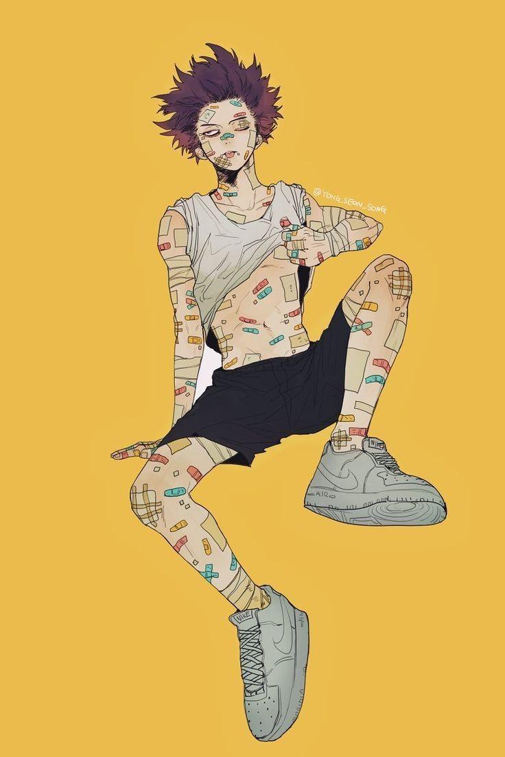 Красивые арты из аниме Бакугу Кацуки (13)