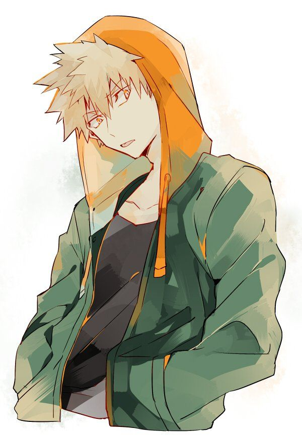 Красивые арты из аниме Бакугу Кацуки (14)