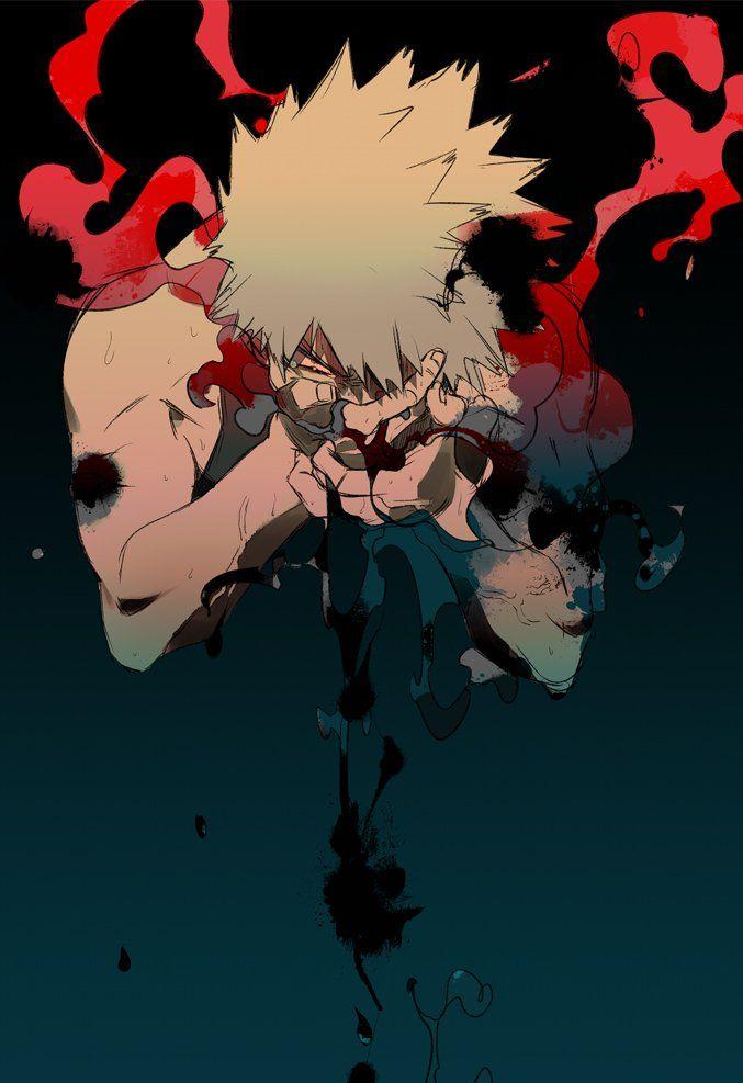 Красивые арты из аниме Бакугу Кацуки (16)