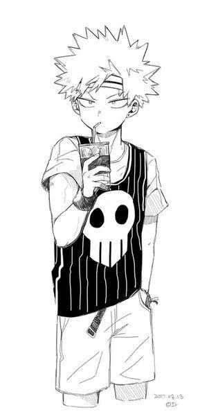 Красивые арты из аниме Бакугу Кацуки (32)
