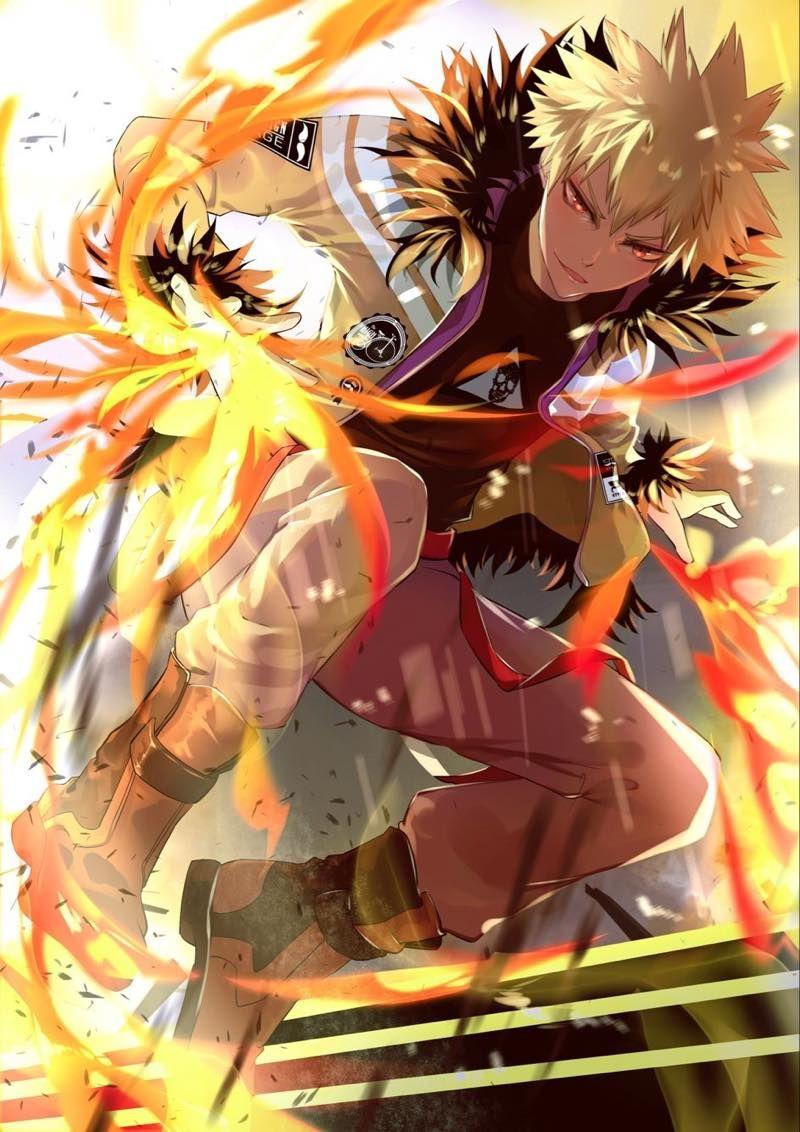 Красивые арты из аниме Бакугу Кацуки (4)
