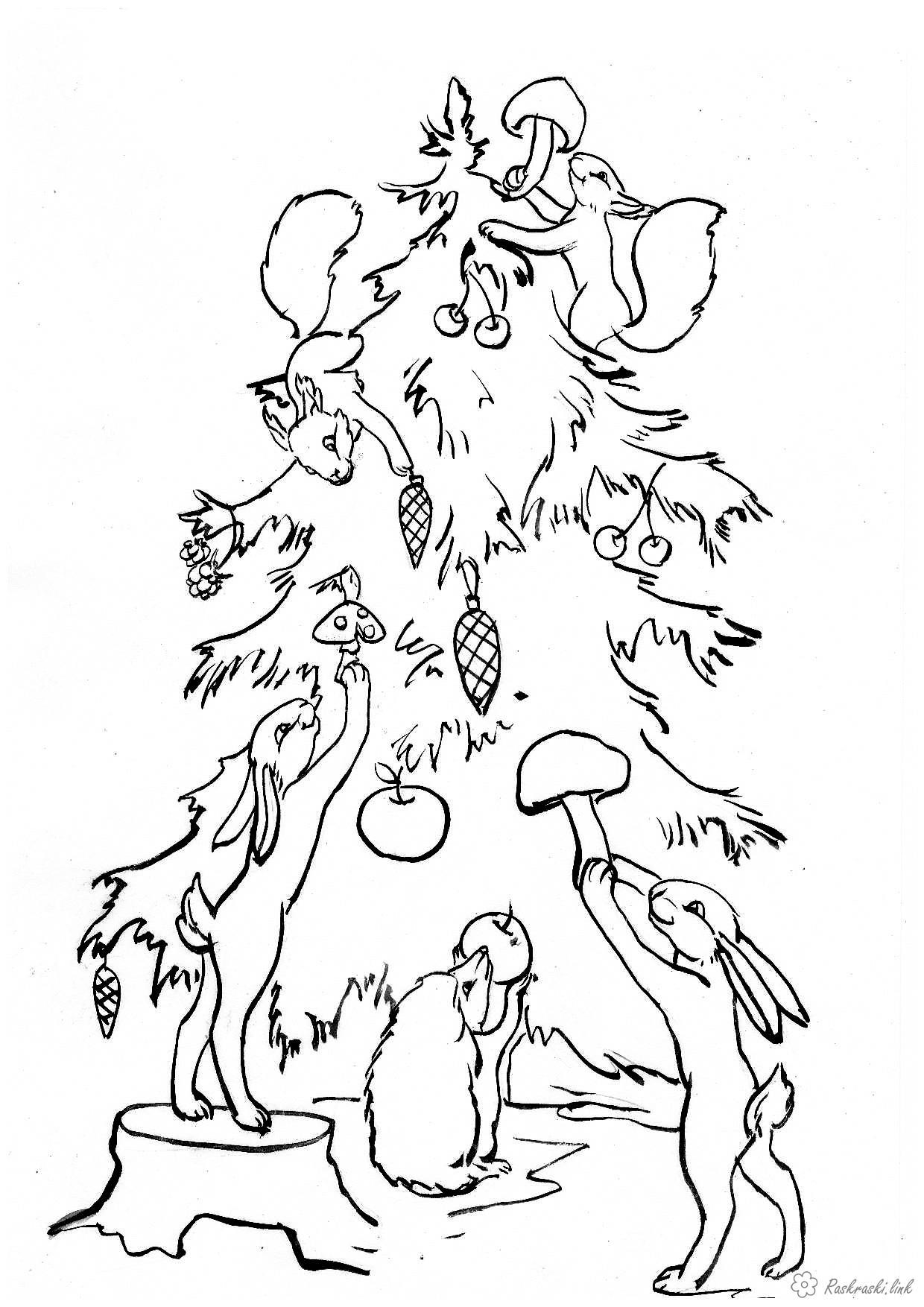 Красивые елки на новый год рисунки (1)