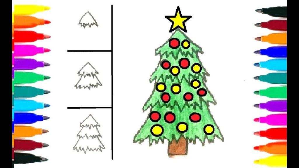 Красивые елки на новый год рисунки (11)