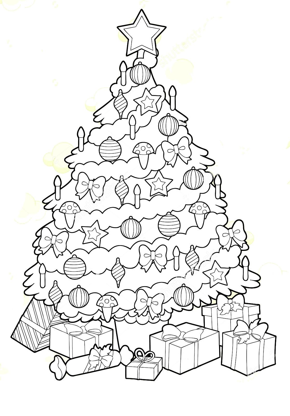 Красивые елки на новый год рисунки (18)