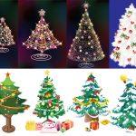 Красивые елки на новый год рисунки