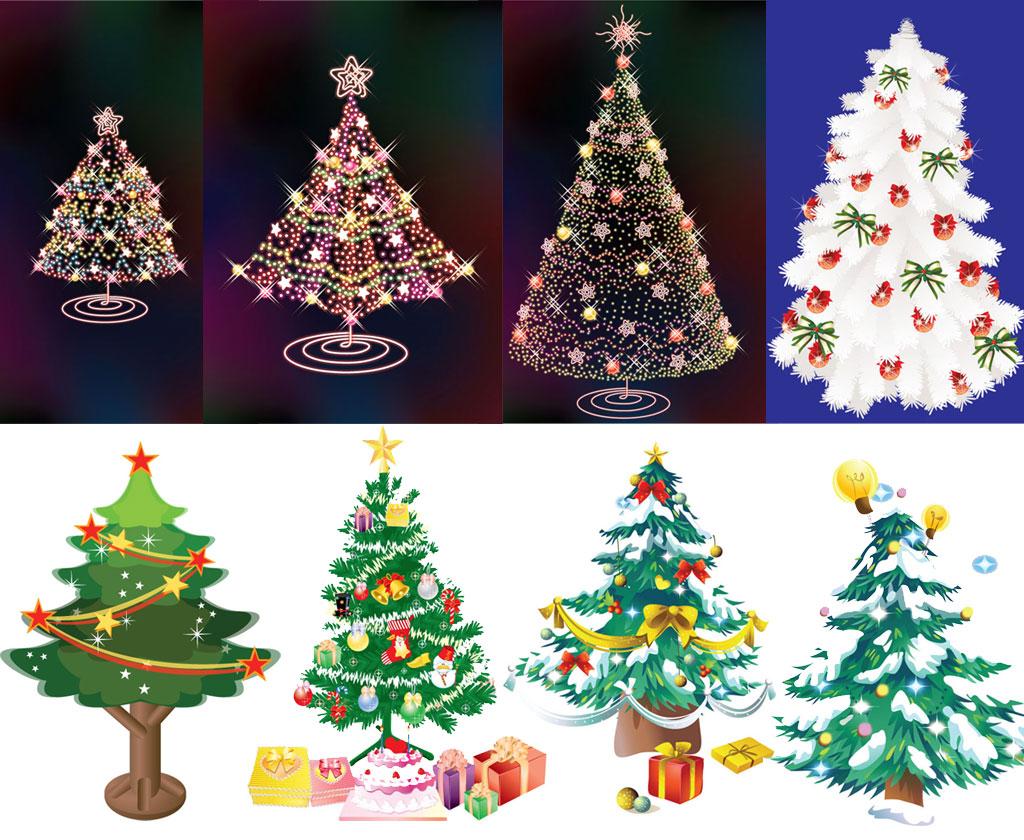 Красивые елки на новый год рисунки (21)