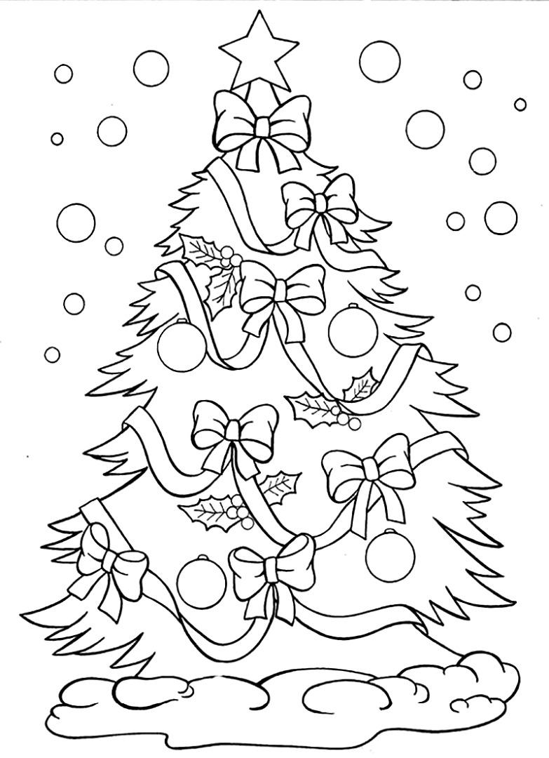 Красивые елки на новый год рисунки (3)