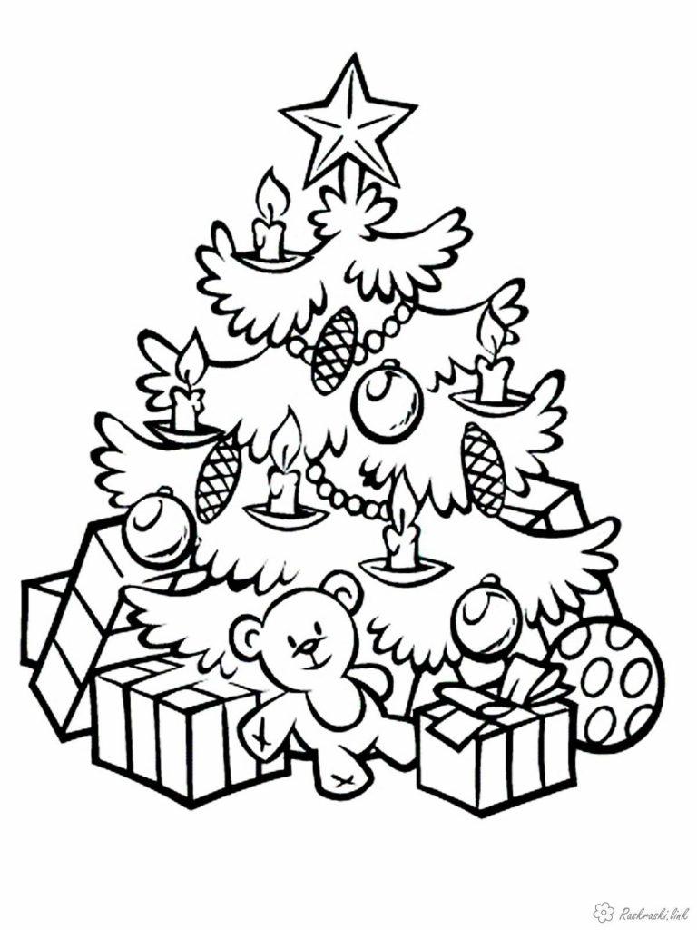 Красивые елки на новый год рисунки (6)