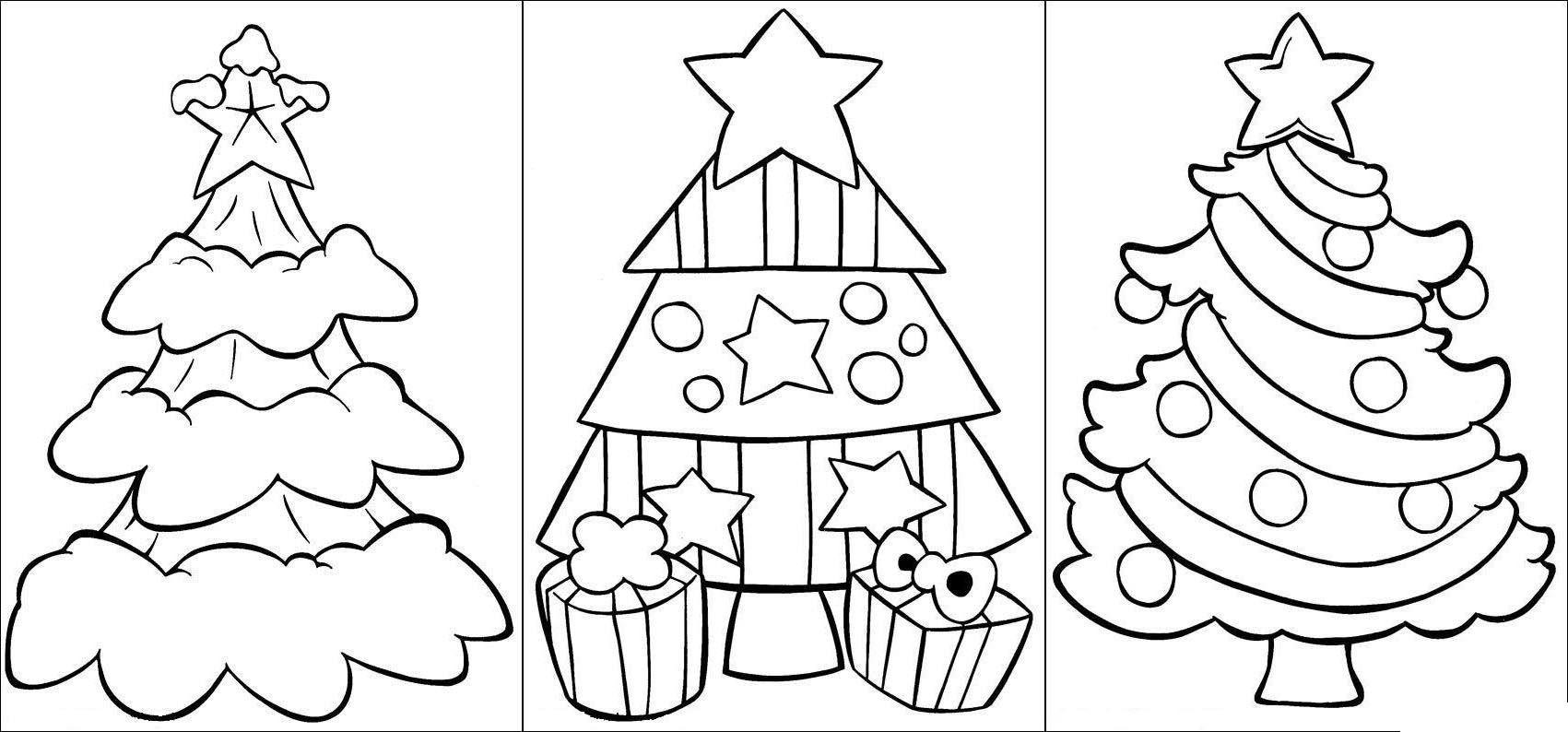 Красивые елки на новый год рисунки (7)