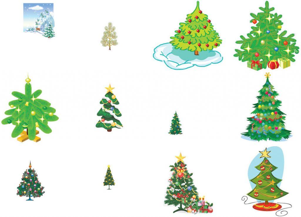 Красивые елки на новый год рисунки (8)