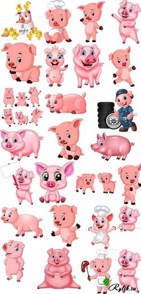 Красивые клипарт свинка013