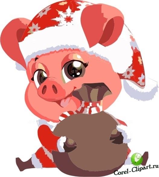 Красивые клипарт свинка017