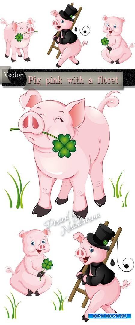 Красивые клипарт свинка019