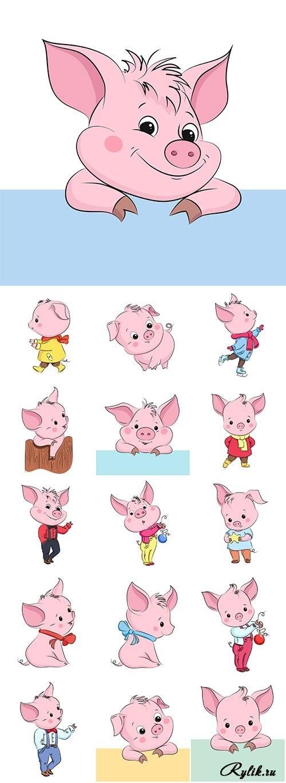 Красивые клипарт свинка021