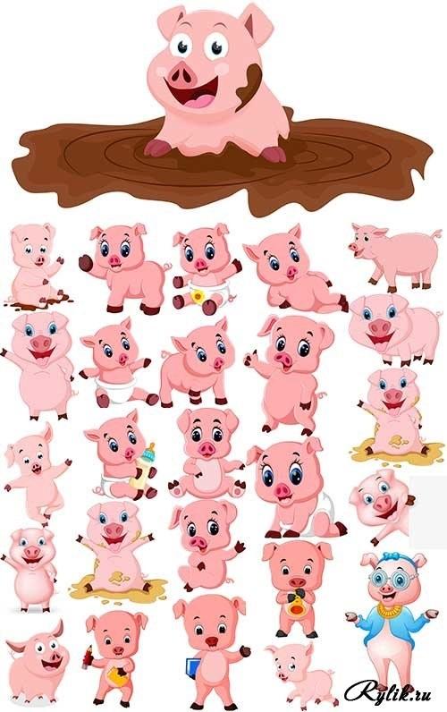 Красивые клипарт свинка023