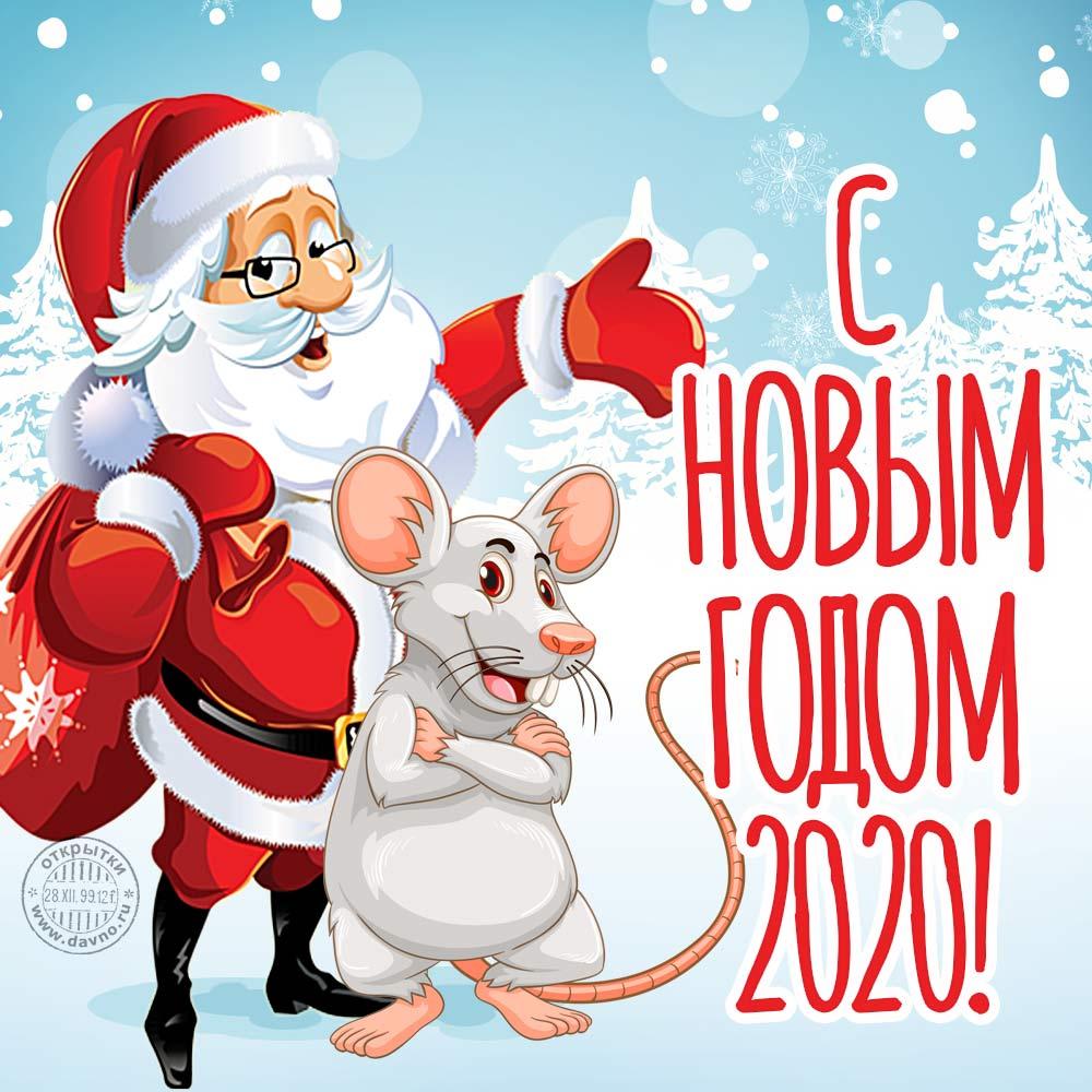 Красивые открытки с Новым годом 2020 (3)