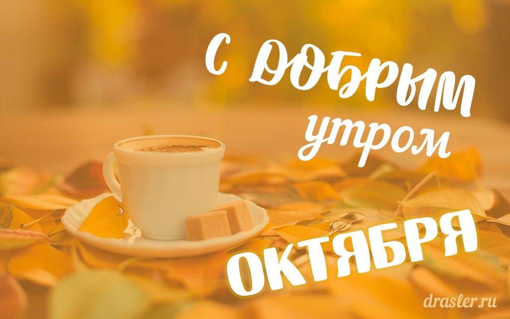 Красивые открытки с добрым утром октября019