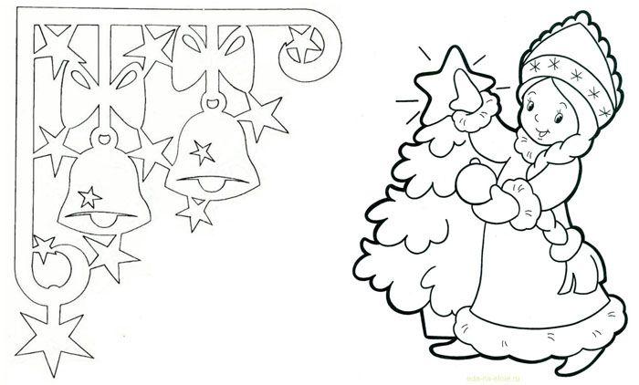 Красивые рисунки на новый год на окно (12)