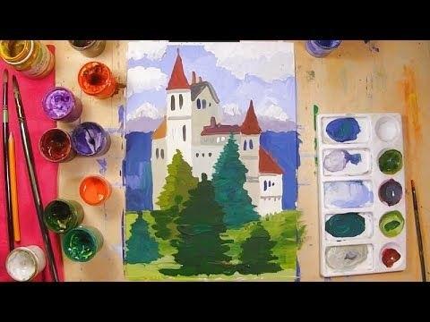 Красивые рисунки октябрь для детей014