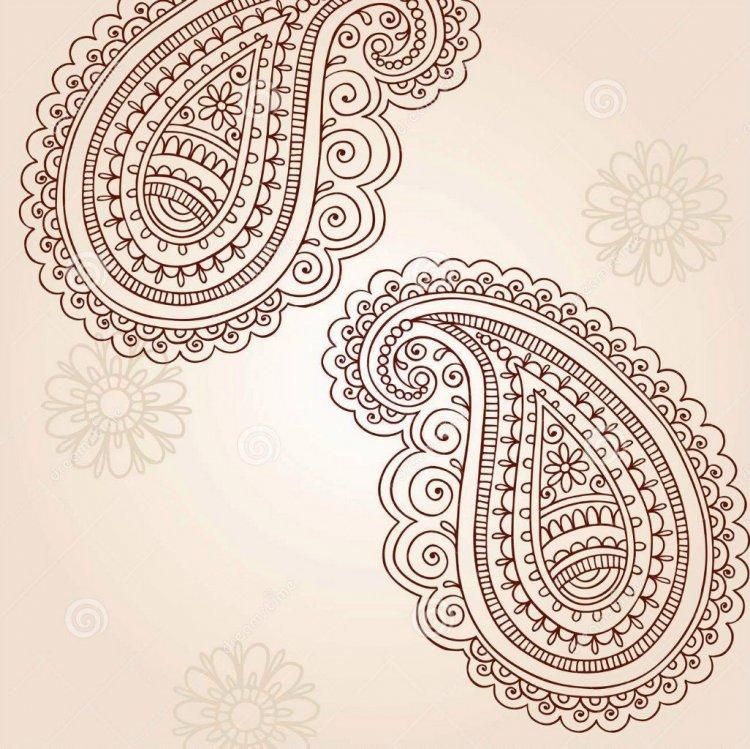 Красивые рисунок индийский орнамент (1)