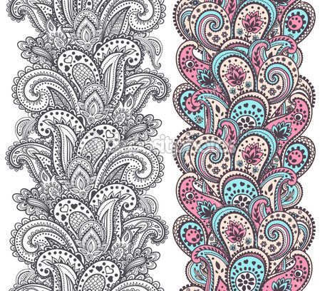 Красивые рисунок индийский орнамент (10)