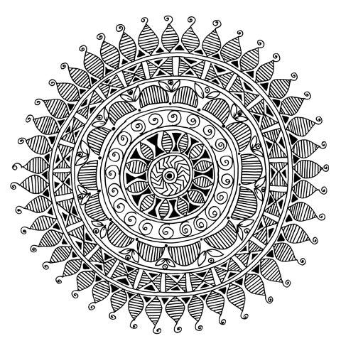 Красивые рисунок индийский орнамент (12)