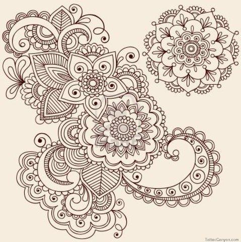 Красивые рисунок индийский орнамент (13)