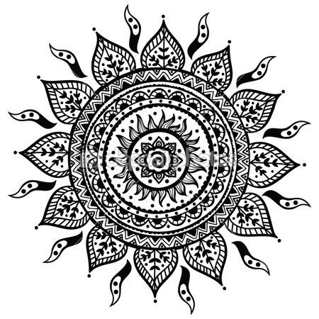 Красивые рисунок индийский орнамент (16)