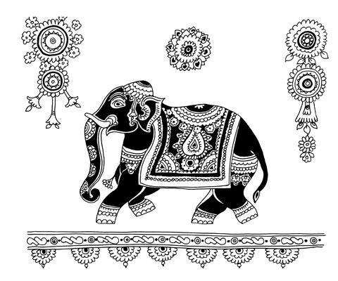 Красивые рисунок индийский орнамент (17)
