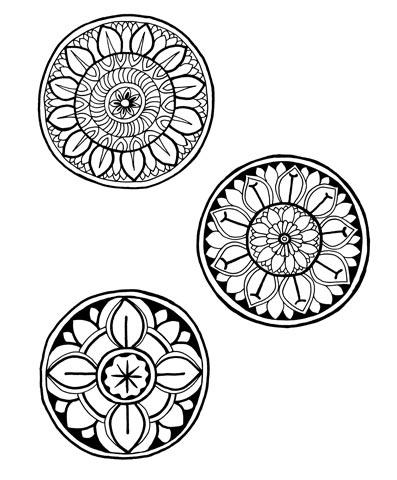 Красивые рисунок индийский орнамент (19)