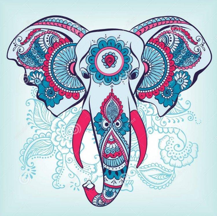 Красивые рисунок индийский орнамент (2)