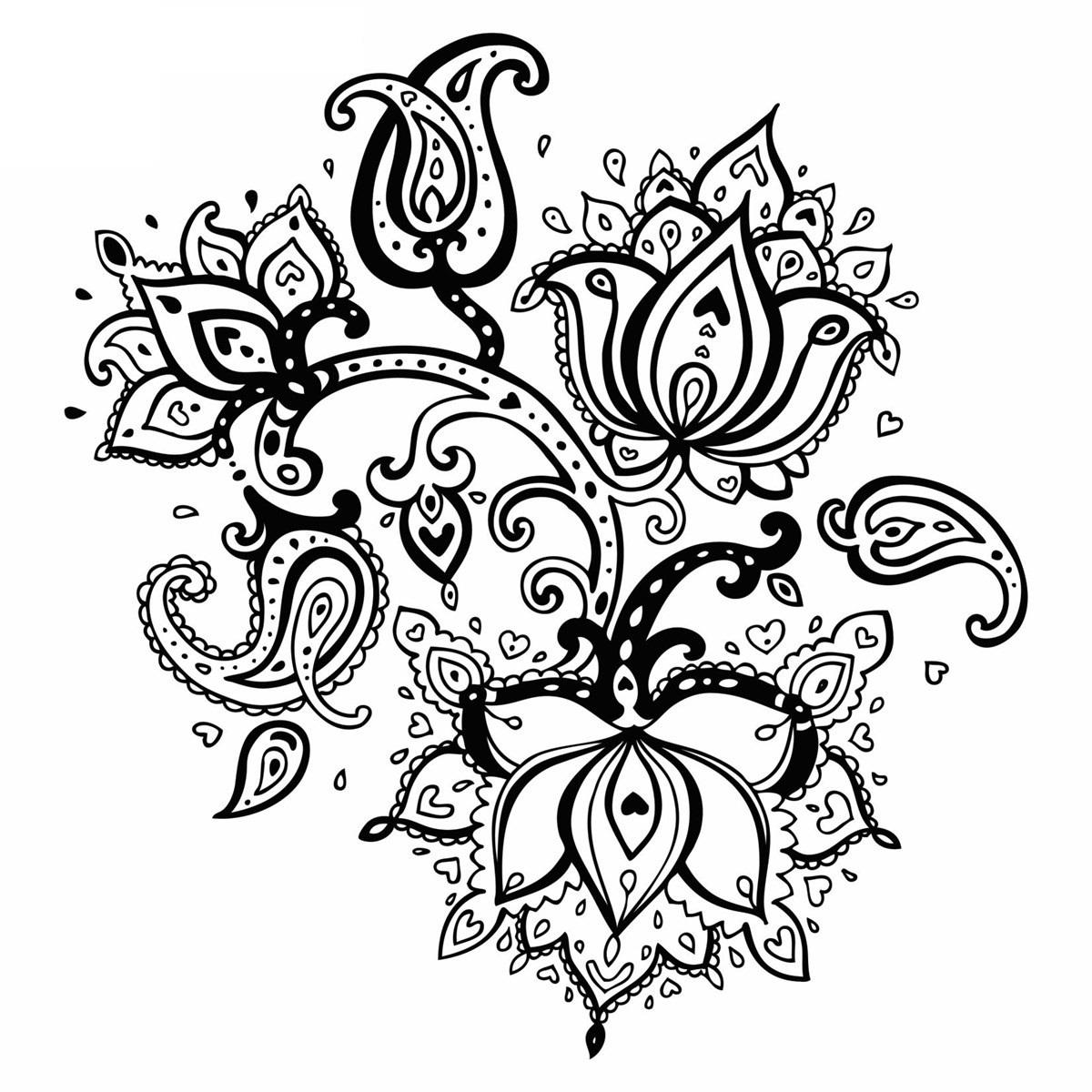 Красивые рисунок индийский орнамент (23)