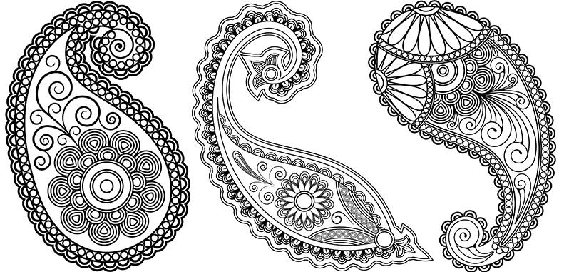 Красивые рисунок индийский орнамент (27)