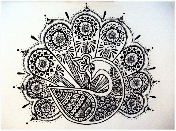 Красивые рисунок индийский орнамент (28)