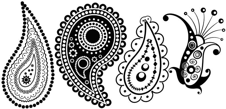 Красивые рисунок индийский орнамент (3)