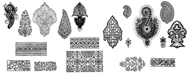Красивые рисунок индийский орнамент (6)